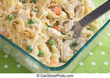 Baked Chicken Noodle Casserole - Creamy baked chicken noodle...