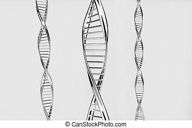 Dna spirals - Silver dna spirals