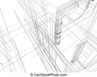 abstract scetch architectural construction