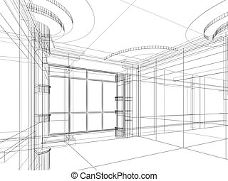 architectural abstract sketch