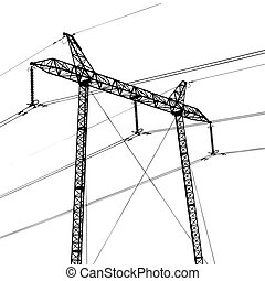 Electric plant illustration