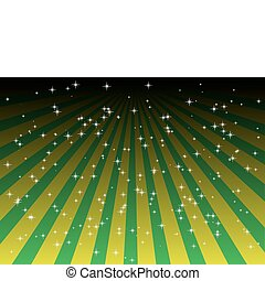 Starfield above striped background