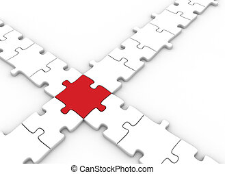Puzzle piece concept - Connected