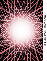 Pink abstract vector shape