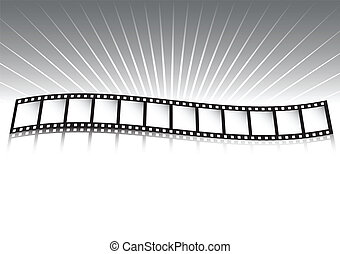 Film strip and rays
