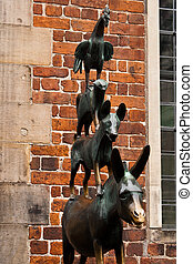 Town Musicians of Bremen - A bronze statue by Gerhard Marcks...