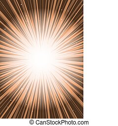Orange vector background rays