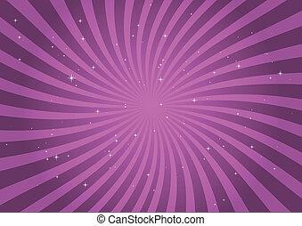 Circular pink swirl