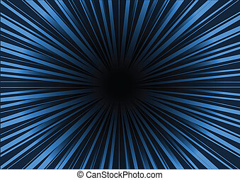 Blue background rayed space