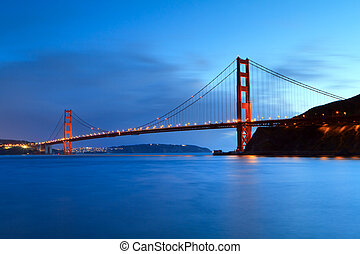 Golden Gate, sunset light