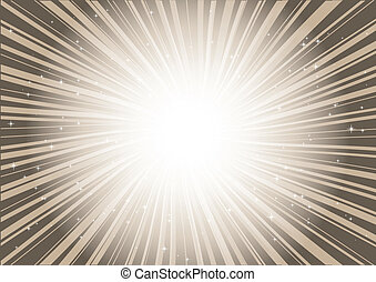 Brown background rays