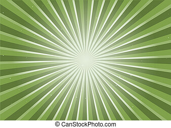 Green radial flare