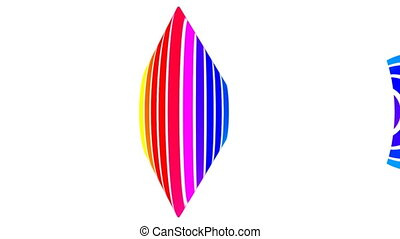 Loop rainbow white background