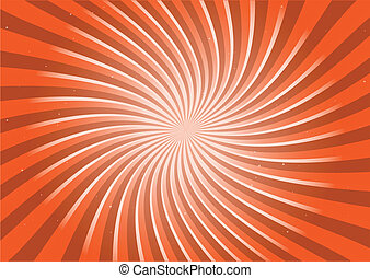 Orange round swirl