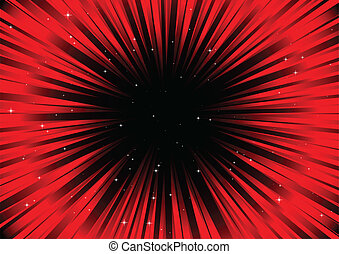 Red abstract blast