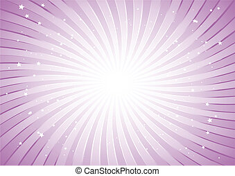 Pink striped background with stars