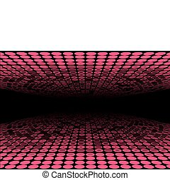 Red endless tunnel