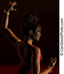 Spanish Flamenco Dancer 2 - Portrait of a Spanish Flamenco...