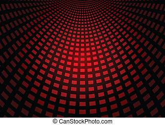 Red squared techno floor