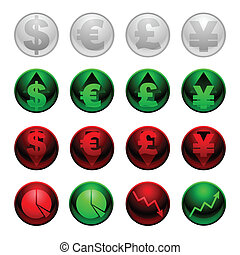 Currency icons - Set of icons for currency and general...