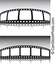 Cinema banner style double backgrou
