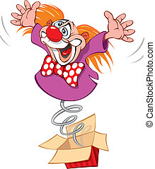 Crazy Clown - A Clown Juggler on an arena, vector...