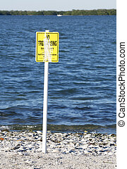 National Audubon Society No Trespassing sign for bird...