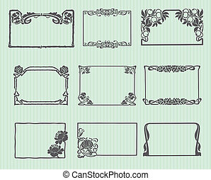 Art Nouveau Horizontal Frame Set - Beautiful Art Nouveau...
