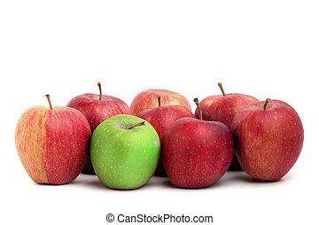 individualidad, en, manzanas