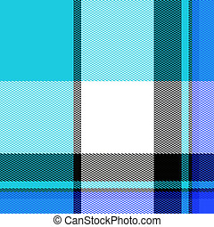 Blue Plaid Pattern