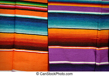 Mayan Mexican Colorful Blankets