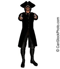 Highwayman - Stand and Deliver - Highwayman pointing a pair...