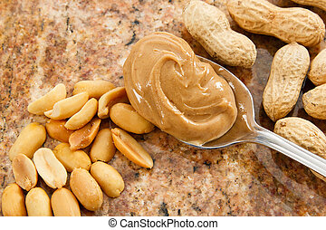Creamy Peanut Butter - A spoonful of creamy peanut butter is...