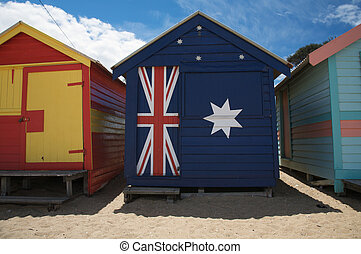 Colourful beach huts in Australia - Colorful beach huts at...