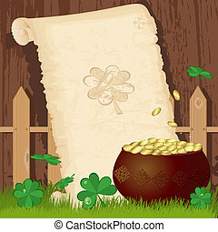 Greeting paper on St. Patrick's Day