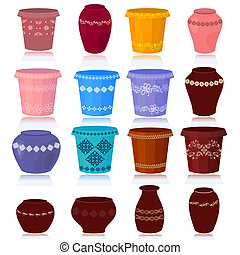 set of decorative flower pots