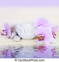 Spa Still Life with Water Reflection - Spa Still Life with...
