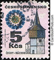 Cechy - Nachodsko - CZECHOSLOVAKIA - CIRCA 1972: A stamp...