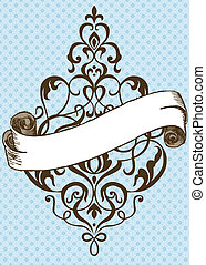 Vector Thin Swirl Ornament and Banner