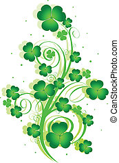 St Patricku2019s Day swirl - Decorative swirling St...