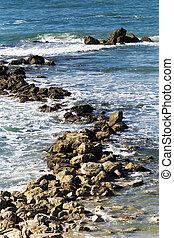 Coastal rocks in Bat-Yam