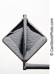 Traffic Sign - Frosted traffic sign, black and white