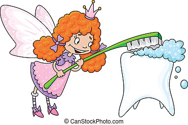 cute tooth fairy - illustration of a cute tooth fairy