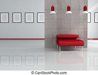modern art gallery - relax corner of a modern art gallery...