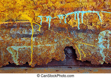 Rust Colors - Colorful grunge background of rusty iron...