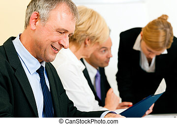 Business team working in a meeting