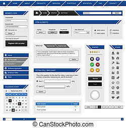 Web design element template - A complete set of web design...