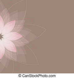 Abstract  flowers. Vector illustration