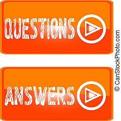 orange sign icon questions answers