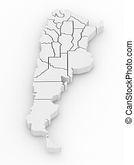 Three-dimensional map of Argentina 3d - Three-dimensional...